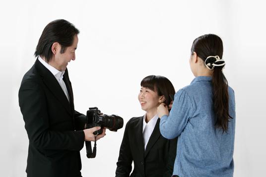 就活証明写真専用スタジオ完備